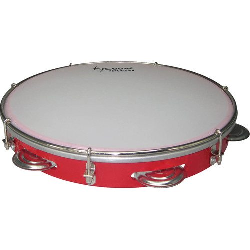 "Tycoon Percussion 12"" ABS Pandeiro (Red)"