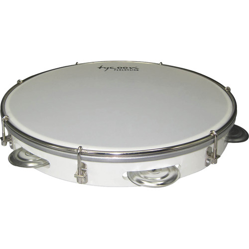 "Tycoon Percussion 12"" ABS Pandeiro (White)"