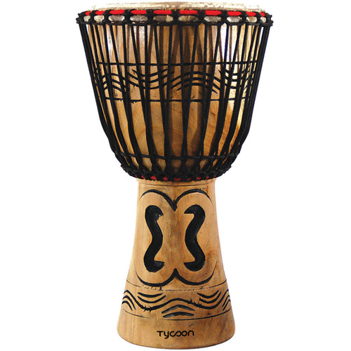 """Tycoon Percussion Traditional Series 13"""" African Djembe (B-Stock)"""