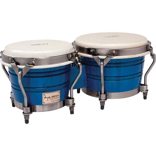 "Tycoon Percussion 7"" & 8.5"" Signature Classic Bongo Set (Blue)"
