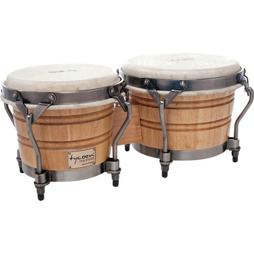 "Tycoon Percussion 7"" & 8.5"" Signature Classic Bongo Set (Natural)"