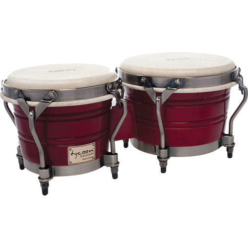 "Tycoon Percussion 7"" & 8.5"" Signature Classic Bongo Set (Red)"