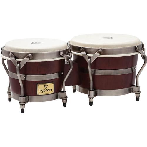 "Tycoon Percussion 7"" & 8.5"" Signature Heritage Bongo Set (Dark Brown)"