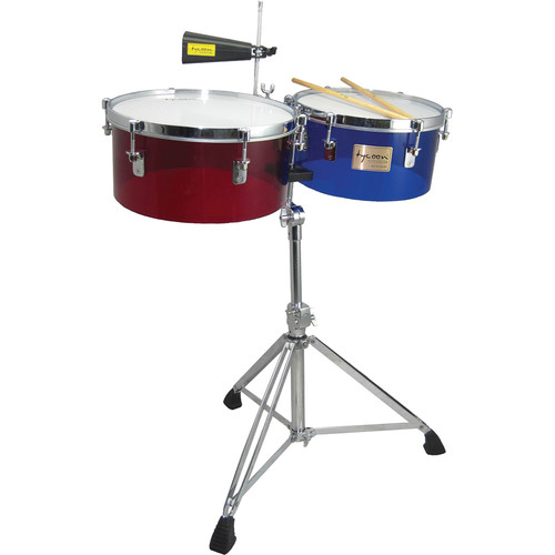 "Tycoon Percussion 13 & 14"" Standard Depth Timbales (Acrylic)"