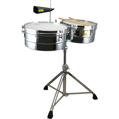 """Tycoon Percussion 13 & 14"""" Standard Depth Timbales (Chrome)"""