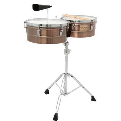 "Tycoon Percussion 14 & 15"" Standard Depth Timbales (Antique Copper)"