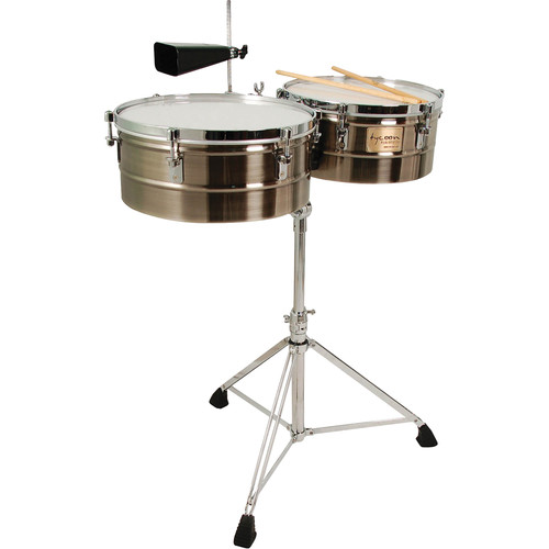 "Tycoon Percussion 14 & 15"" Standard Depth Timbales (Brushed Chrome)"