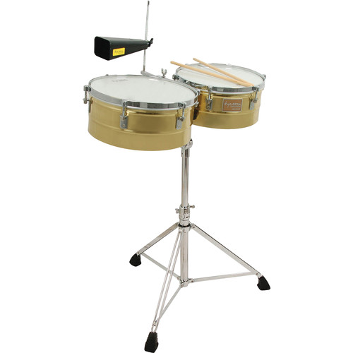 "Tycoon Percussion 14 & 15"" Standard Depth Timbales (Brass)"