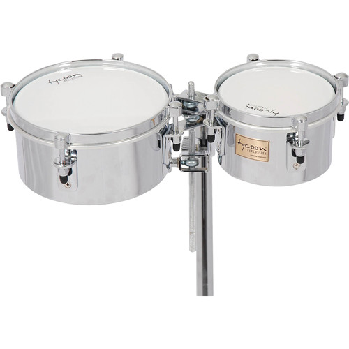 "Tycoon Percussion 6 & 8"" Chrome Shell Mini Timbales"
