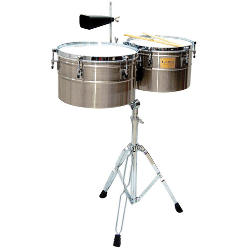 "Tycoon Percussion 14 & 15"" Deep-Shell Timbales (Brushed Chrome)"
