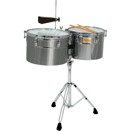 """Tycoon Percussion 14 & 15"""" Extra Deep-Shell Timbales (Brushed Chrome)"""