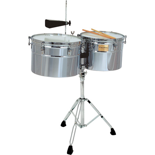 "Tycoon Percussion 14 & 15"" Extra Deep-Shell Timbales (Chrome)"
