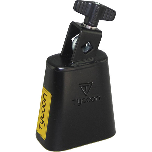 """Tycoon Percussion 3.5"""" Mountable Cowbell (Black Powder Coated)"""