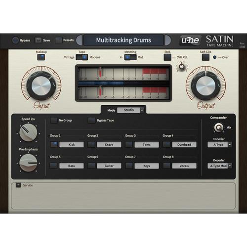 u-he Satin - Magnetic Tape Emulation Plug-In (Download)