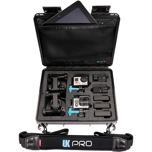 UKPro POV40 Multi-Cam Waterproof Case with Shoulder Strap