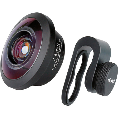 Ulanzi 7.5mm Super Wide-Angle Fisheye Lens for Smartphones & Tablets