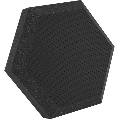 "Ultimate Acoustics UA-HX-12BK Hex Series Hexagon Foam Wall Panel 12"" Charcoal (Pair, Black Vinyl)"