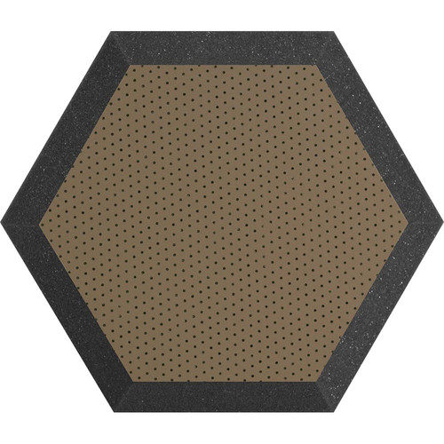 "Ultimate Acoustics UA-HX-12BR Hex Series Hexagon Foam Wall Panel 12"" Charcoal (Pair, Brown Vinyl)"