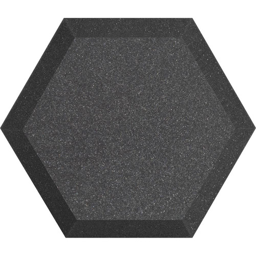"Ultimate Acoustics UA-HX-12CH Hex Series Hexagon Foam Wall Panel 12"" Charcoal (Pair, Charcoal Vinyl)"