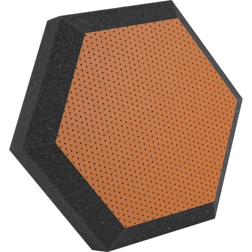 "Ultimate Acoustics UA-HX-12OR Hex Series Hexagon Foam Wall Panel 12"" Charcoal (Pair, Orange Vinyl)"