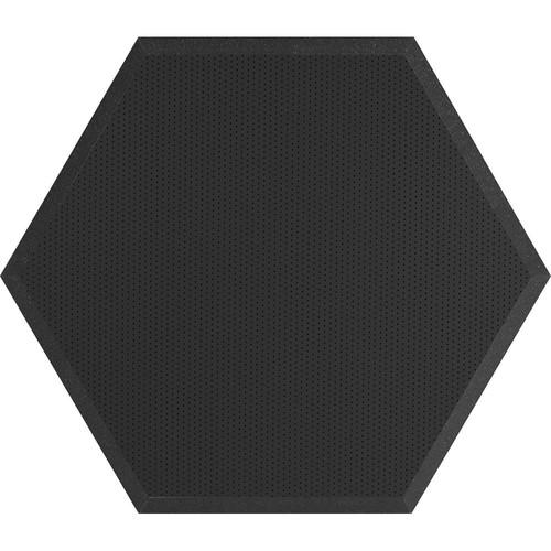 "Ultimate Acoustics UA-HX-24BK Hex Series Hexagon Foam Wall Panel 24"" Charcoal (Pair, Black Vinyl)"