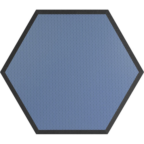 "Ultimate Acoustics UA-HX-24BL Hex Series Hexagon Foam Wall Panel 24"" Charcoal (Pair, Blue Vinyl)"