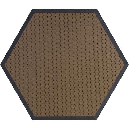 "Ultimate Acoustics UA-HX-24BR Hex Series Hexagon Foam Wall Panel 24"" Charcoal (Pair, Brown Vinyl)"