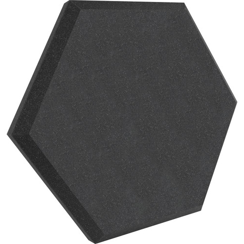 "Ultimate Acoustics UA-HX-24CH Hex Series Hexagon Foam Wall Panel 24"" Charcoal (Pair, Charcoal Vinyl)"