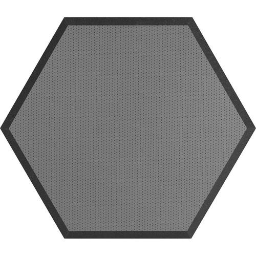 "Ultimate Acoustics UA-HX-24GR Hex Series Hexagon Foam Wall Panel 24"" Charcoal (Pair, Gray Vinyl)"