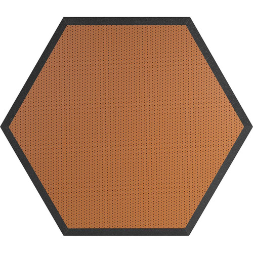 "Ultimate Acoustics UA-HX-24OR Hex Series Hexagon Foam Wall Panel 24"" Charcoal (Pair, Orange Vinyl)"