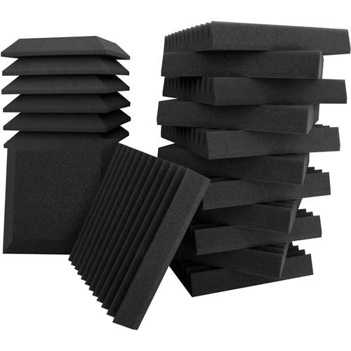 Ultimate Acoustics Studio Bundle II - 24-Piece Acoustic Foam Bevels & Wedges
