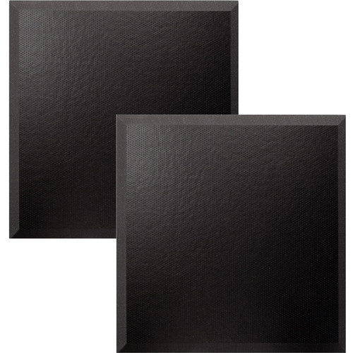 "Ultimate Acoustics 24 x 24 x 2"" Bevel Acoustic Panels with Vinyl Covering (Pair)"