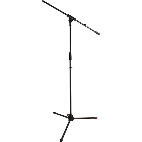 Ultimate Support JS-MCFB100C JamStands Series Tripod Mic Stand with Fixed-Length Boom and Blue Accent Bands