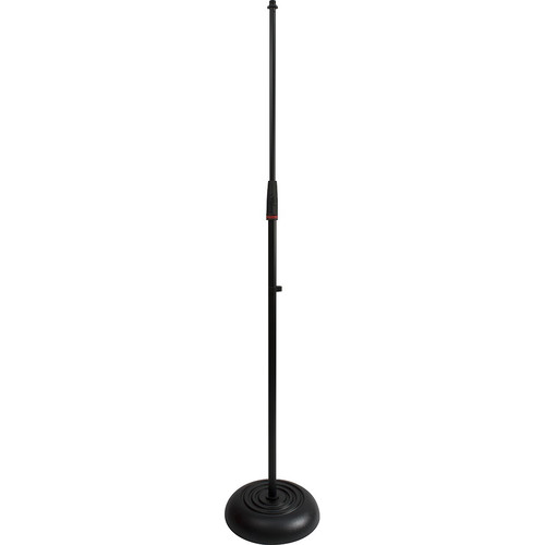 Ultimate Support JS-MCRB100C JamStands Series Round Based Mic Stand with Blue Accent Bands