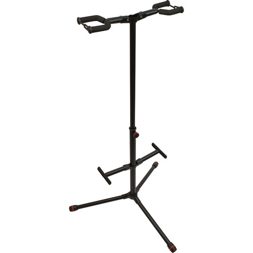 Ultimate Support JamStands HG102C Double Hanging-Style Guitar Stand with Colored Accent Bands