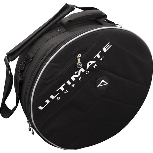 Ultimate Support USHB2-SN-GR - Hybrid Series 2.0 Snare Drum Bag (Black with Gray Trim)