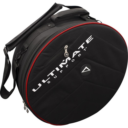 Ultimate Support USHB2-SN-BL - Hybrid Series 2.0 Snare Drum Bag (Black with Red Trim)