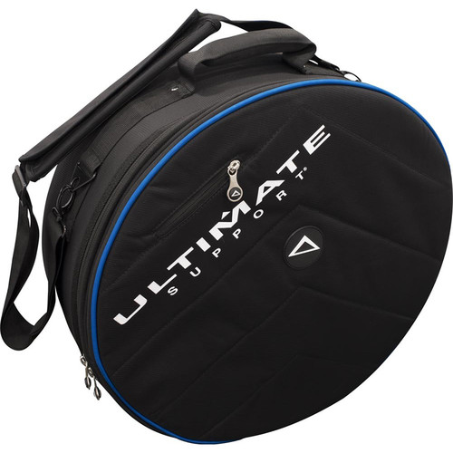 Ultimate Support USHB2-SN-BL - Hybrid Series 2.0 Snare Drum Bag (Black with Blue Trim)