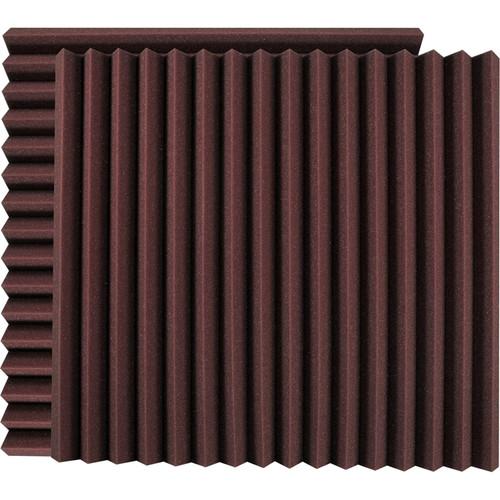 "Ultimate Acoustics 24 x 24 x 2"" Wedge-Style Acoustic Panels (Burgundy, Pair)"