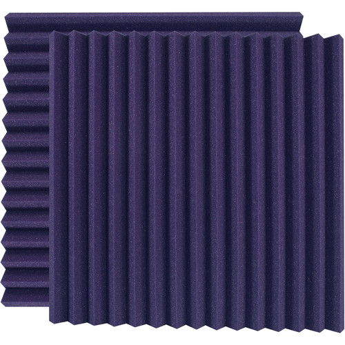 "Ultimate Acoustics 24 x 24 x 2"" Wedge-Style Acoustic Panels (Purple, Pair)"