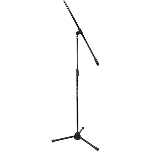 Ultimate Support PRO-R-T-F Pro Series R Mic Stand with 1/4-Turn Clutch, Plastic Tripod Base/Standard Height/Fixed Boom