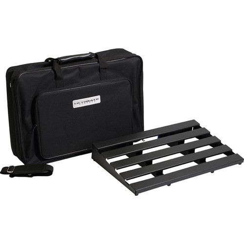 "Ultimate Support UPD-2416-B Series Pedalboard with Gig Bag and Power Supply Tray Kit (24 x 16.4"", Black)"