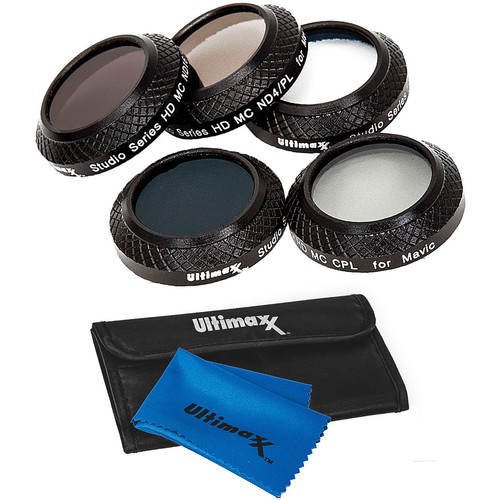 Ultimaxx 7-Piece Mavic Pro Filter Kit with UV,CPL,CPL/ND4,CPL/ND8,CPL/ND16