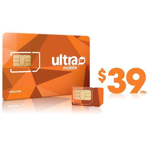 Ultra Mobile $39 International Plan with 3-Size SIM Card Pack