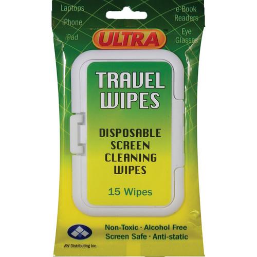 ULTRA SCREEN CLEANER UWT-15 Ultra Screen Multipurpose Travel Wipes (White, 15-Pack)