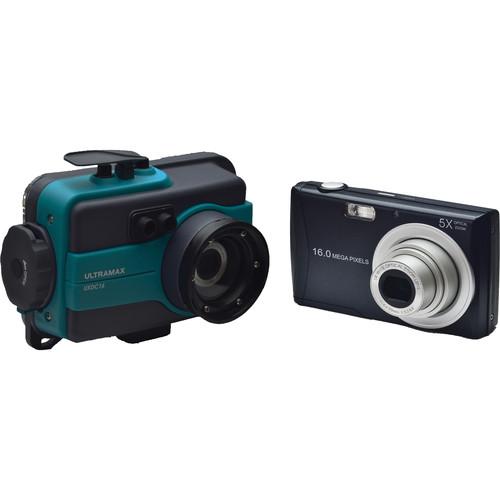 ULTRAMAX UXDC16 Underwater Digital Camera with Housing (Aqua)