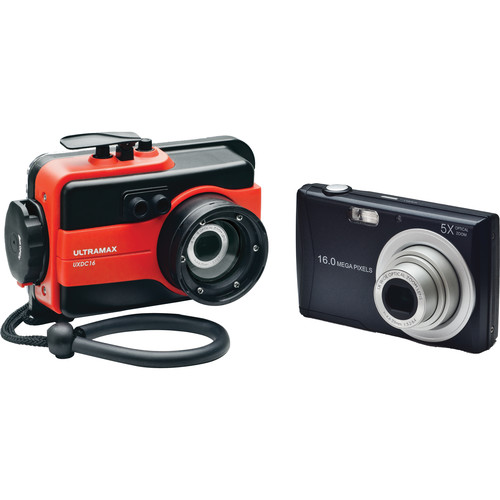 ULTRAMAX UXDC16 Underwater Digital Camera with Housing (Red)
