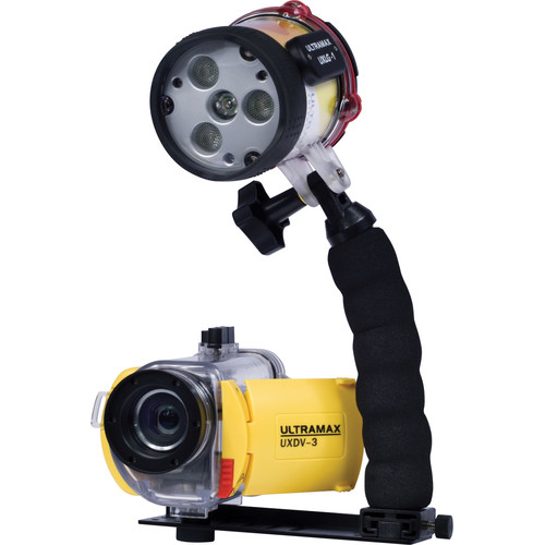 ULTRAMAX UXDV-3 HD Video Camera Premium Package with Underwater Housing and ULTRAPOWER-II Dive Light
