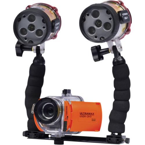 ULTRAMAX UXDV-3HD-PRO 1080p Underwater Video Camera, Housing & Light Package