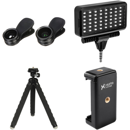 UmAid 3-in-1 Lens Mobile Photography Kit with LED Light
